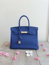 Rare 100% Authentic Pre-owned Hermes Birkin 30 7T Bleu Electriqu with GHW