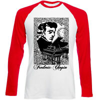 FREDERIC CHOPIN POLISH COMPOSER - NEW RED SLEEVED TSHIRT