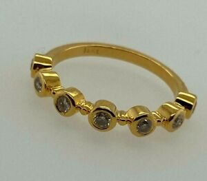 18ct Yellow Gold and Diamond 7 Stone Ring, SIZE N 1/2