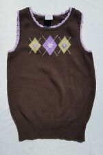 Gymboree Girls Sweater Vest Size 5 6 Small Cowgirls At Heart Argyle Vintage