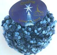 Laines du Nord OPALINE #10 Sky Dark Blues Denim Boucle Loops Wool 50g Yarn Skein