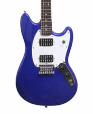 Guitares électriques bleus 6 cordes bois massif