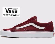 🔥 auténtico 2019 Estilo Vans de Malla de 36 ® (Hombres Tallas: 7 y 10) Borgoña Rojo