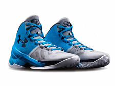 New Under Armour Curry 2 Size 10.5 Panthers Blue Grey Steph Chef