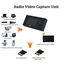AV Video Capture USB AV/SD CARD/DVD Medica Convert old tapes to digital No PC