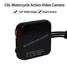 Full HD 720p Mini Dual Lens Motorcycle Sport Camera DVR Dash Cam Video Camcorder