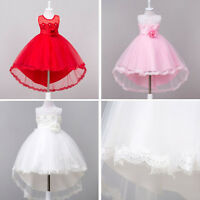 Flower Girl Dress Kids Gown Lace Party Formal Wedding Pageant Princess Dress New