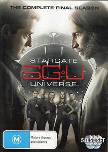 STARGATE UNIVERSE: SGU. The Complete Final Season - 20 eps on 5 x R4 DVDs