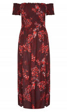 CITY CHIC S 16 NWT RRP $119.95 MAXI PAISLEY PARK SUMMER DRESS