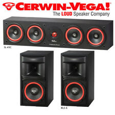 Cerwin Vega Bundle Surround Sound Home Theater XLS-6 Bookshelf Speakers + SL-45C