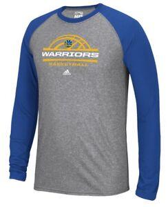 "Golden State Warriors Adidas NBA ""Court King"" Men's Climalite L/S T-Shirt"
