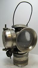 Antique 19c Solar Badger Bicycle Lamp red clear jeweled light motorcycle bike