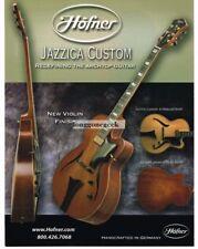 2005 HOFNER Jazzica Custom Electric Guitars Vtg Print Ad