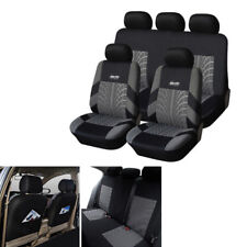 Embroidery Full Set Car Autos Seat Covers Protector Universal Tire Track Feature