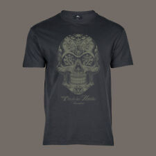 T-Shirt Dia De Los Muertos | Lucha Libre Mexiko Bike Hot Rod Muscle Car V8 grau