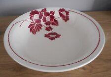 Saladier faience St Amand fleurs rouge