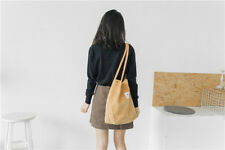 Women Heavy Duty Classic Retro Corduroy magnetic button Shoulder Canvas Tote Bag