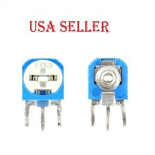 65pcs Rm063 Vertical Blue White Adjustable Resistor Kit 100 Ohm 1m Ohm 13 Values