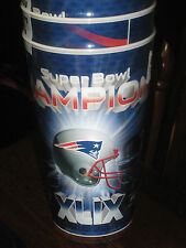 NEW ENGLAND 2014 SUPER BOWL CHAMPIONS  HOLOGRAPHIC TUMBLERS/CUPS 4 NEW