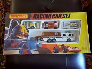 Matchbox Superking G-3  Martini Racing Transporter Car Gift Set in Box 1974