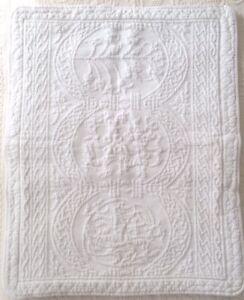 Williamsburg William And Mary Matelasse Cream Standard Size Pillow Shams
