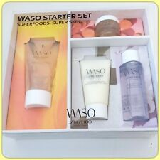 SHISEDO WASO Starter Set Hydrating Cream, Jelly Lotion, Cleanser, Polisher $45