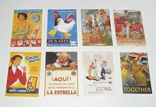 Lot de 8 Carte Postale Reproduction Affiche Publicitaire Ancienne Pub