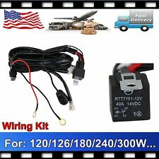 Wiring Harness Kit 40A 14V ON /OFF Switch Relay For 120W~300W LED Work Light Bar
