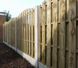 STF Wind Resistant Hit & Miss High Quality Wooden Fence Panels