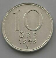 SWEDEN 10 ORE 1949   #ix 415