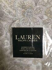 "Ralph Lauren Tara Paisley Natural 100% Cotton 70""x72"" Fabric Shower Curtain Nip"
