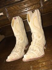 Tierra Blanca Kids Cowboy Boots Crocodile Size 9 Us 16 Mex