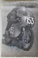 27539 Moto Rennen Foto Autografo Han Leenheer Holland 1961 125 Ccm Bici
