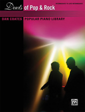 """Dan Coates Popular Piano Library """"Duets of Pop & Rock"""" MUSIC BOOK-NEW ON SALE!!"""