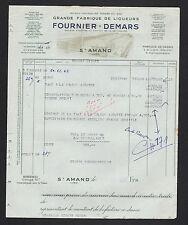 """SAINT-AMAND-MONTROND (18) DISTILLERIE / LIQUEUR & CASSIS """"FOURNIER-DEMARS"""" 1957"""