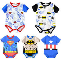 Newborn Baby Kids Boys Girls Superhero Romper Jumpsuit Bodysuit Playsuit Clothes