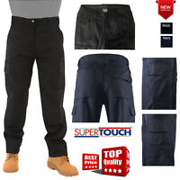 New Mens Work Wear Trousers Combat Cargo Pants Knee Pad Pockets Casual Bottoms