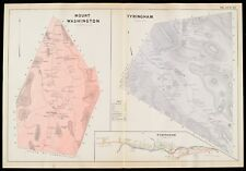 1904 BERKSHIRE COUNTY MASSACHUSETTS TYRINGHAM VILLAGE MOUNT WASHINGTON ATLAS MAP
