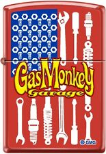 Zippo Gas Monkey USA Flag Made With Tools Red Matte NEW Rare