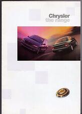 Chrysler 1997-98 UK Market Foldout Sales Brochure Neon Voyager Viper Prowler