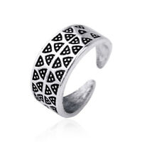 Viking Triangle Gotland Dot Charm Amulet Protection Ring for Men Size 8.5