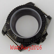 40 мм-ceraimc сапфир прозрачный Pvd часы чехол подходит Miyota 8215 механизм NH35