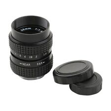 Television TV Lens/CCTV Lens for C Mount Camera 25mm F1.4 in Black G5D3