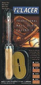 Baseball Glove Relace RELACER KIT Softball Lacing Relacing Repair Tools TAN