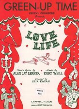 "Green-Up Time ""Love Life"" Piano/Vocal Sheet Music-Cheryl Crawford-1948-Rare-New!"
