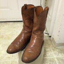 VINTAGE LUCCHESE WESTERN BOOTS MADE IN USA MEN 12 D