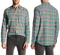 FAHERTY Seaview Plaid Soft Cotton Shirt in Teal  Sz.XL NWT