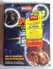 "1996 British Star Wars Tazos Album with  50 ""Pogs""- Complete Set- FREE S&H"