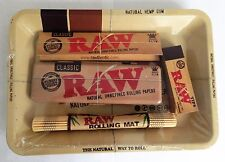 RAW SMOKING SET - Rolling Mat - Tray - Papers & More! - Rapid Same Day Despatch