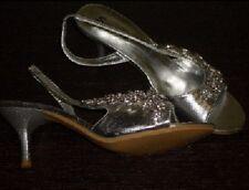 Stilettos mit Strass Hochzeitsschuhe Pumps High Heels silber SANNITA Gr. 36 NEU